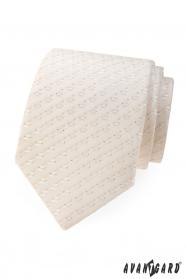 Leicht gemusterte Krawatte in Ivory