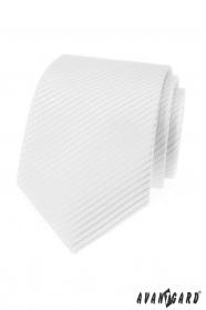 Weiße Herren Krawatte mit Streifen