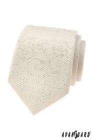 Creme Avantgard Krawatte mit Muster