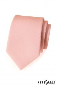 Moderne puderfarbene Krawatte matt