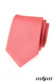Krawatte rosa mattiert einfarbig