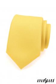 Matt gelbe Krawatte