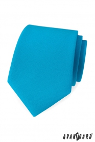 Matt türkisfarbene Krawatte