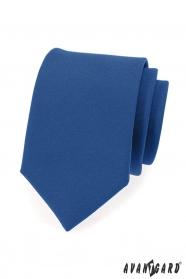 Blaue Herren Krawatte mit matter Oberfläche