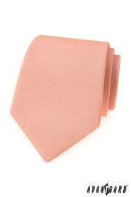 Lachsrosa matte Krawatte