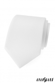 Matt weiße Krawatte