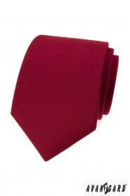 Matt Herren Krawatte in Burgunder Farbe