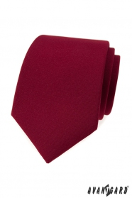 Herren Krawatte in matt burgunder Farbe