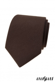 Mattbraune Krawatte für Herren