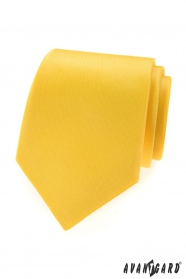 Gelbe matte Avantgard Krawatte