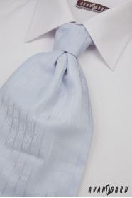 Hochzeitskrawatte mit Einstecktuch hellblau fein dekoriert