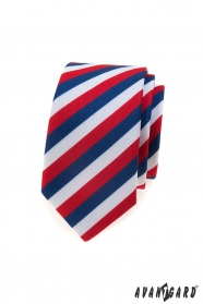 Schmale Krawatte Tricolore Lux