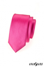 Schmale Krawatte   Fuchsia Glanz