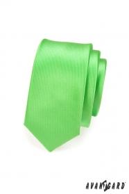 Schmale Krawatte   Grün Glanz