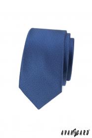 Dunkelblaue Schmale Herren Krawatte