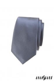 Schlanke Krawatte für Herren in Grau