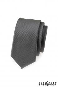 Graphitgraue schmale Krawatte