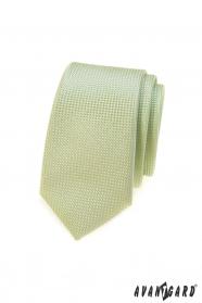 Grüne slim Krawatte, gestrickte Struktur