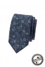 Blaue slim Krawatte Jeans mit Blumen