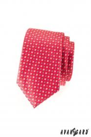 Schmale Krawatte dunkelrosa mit Sternchen