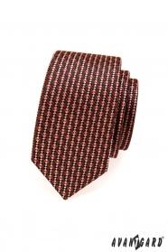 Schmale Krawatte braune und rote Töne