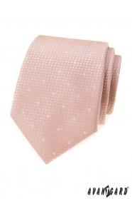 Puderrosa Krawatte mit Schneeflocken
