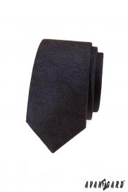 Braune, strukturierte Krawatte mit Paisley-Muster