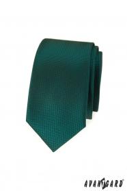 Dunkelgrüne schmale Avantgard Krawatte
