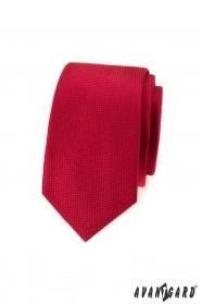 Rote strukturierte Herren Schmale Krawatte