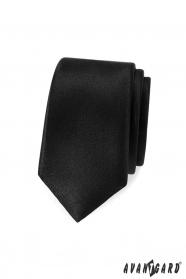 Schmale schwarze Avantgard Krawatte