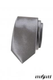 Schmale Krawatte SLIM graphit einfarbig