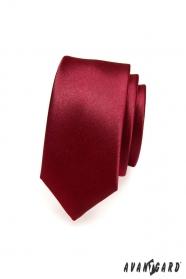 Glatte bordeaux Krawatte schmal