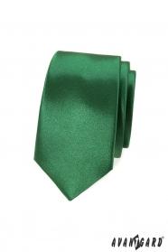 Schlanke Krawatte glänzender Grünton