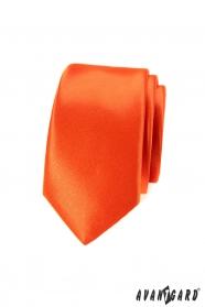 Schmale Krawatte Slim tiefe orange Farbe
