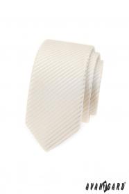 Avantgard Slim Krawatte im Cremeton