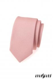 Schmale SLIM Krawatte in modischer Puderfarbe