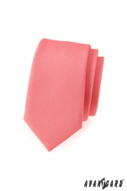 Schmale Krawatte Altrosa matt