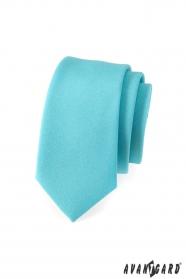 Schmale Krawatte Türkis matt