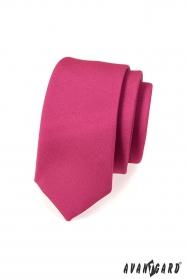 Schmale Krawatte fuchsia matt