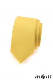 Schmale Krawatte SLIM hellgelb