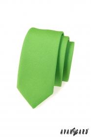 Schmale Krawatte   Grün mattiert