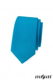 Schmale Krawatte in mattem Türkis