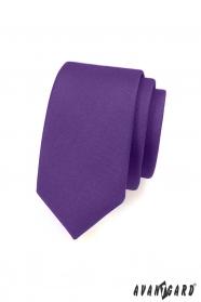 Mattviolette schmale Krawatte