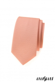 Schmale Krawatte in Lachsfarbe