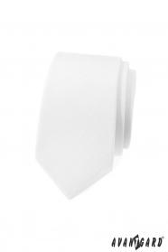 Weiße, schmale Krawatte