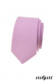 Schmale Krawatte in lila Farbe