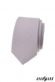 Graue schmale Krawatte