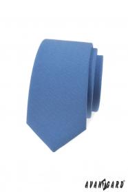 Blaue, schmale Krawatte