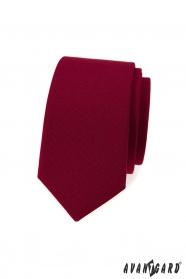 Schmale Burgunder Krawatte