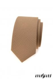Hellbraune schmale Krawatte